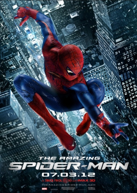 Amazing Spiderman movie poster - Cityscapes photographed by Mont