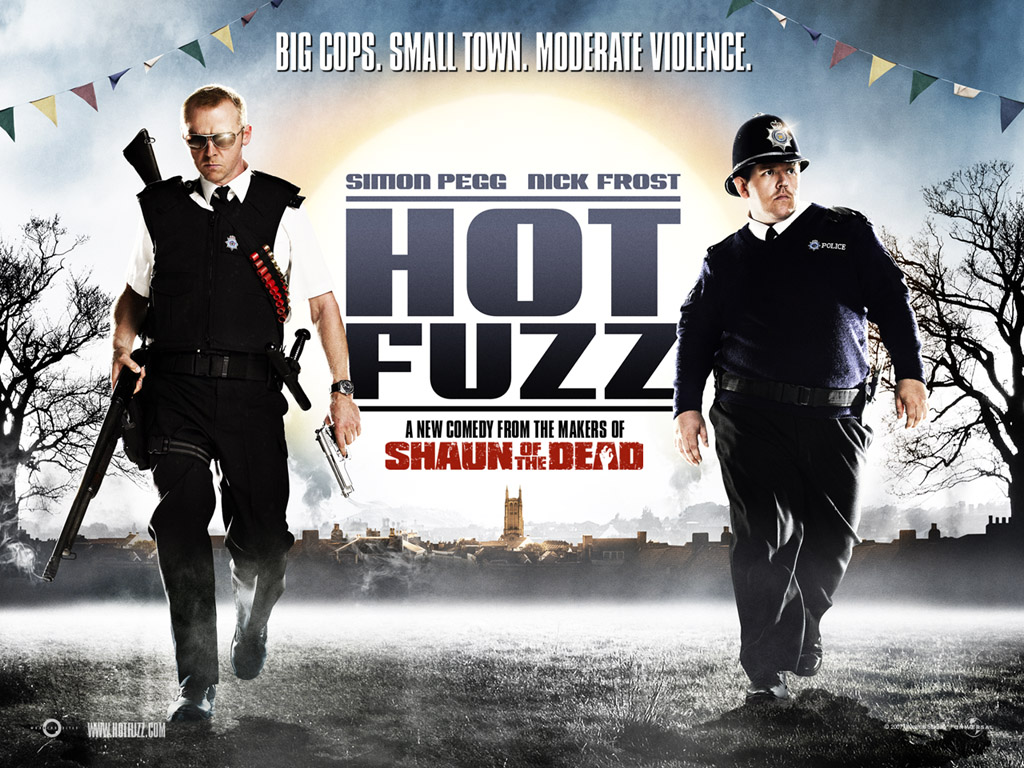 Image result for hot fuzz horizontal poster
