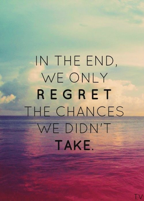 we only regret
