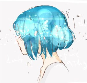my anime profile has blue hair too!